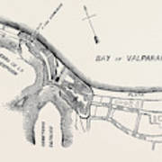 Plan Of Part Of The City Of Valparaiso Poster