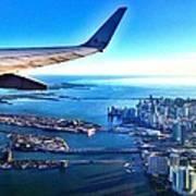 Plane Over Miami Poster