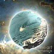 Planet Blue Poster by Bernard MICHEL