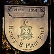 Plant Park Since 1891 Poster