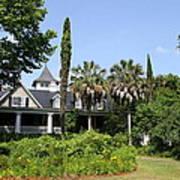 Plantation Home At Magnolia Plantation Poster