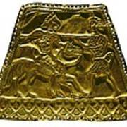 Plaque With Scythian Warriors. Gold Poster