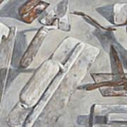 Plasterer Tools 2 Poster by Anke Classen