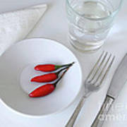 Plate Of Chilies  Poster