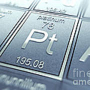Platinum Chemical Element Poster