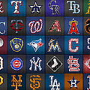 Play Ball Recycled Vintage Baseball Team Logo License Plate Art Poster