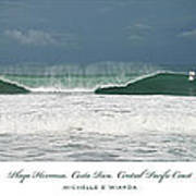 Playa Hermosa Wave Triptych Central Pacific Coast Costa Rica Poster