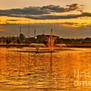 Playa Lake At Sunset Poster