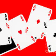 Playing Cards Aces Poster