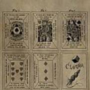 Playing Cards Patent Poster