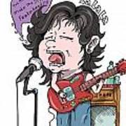 Playing Guitar Poster
