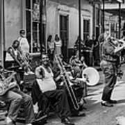 Playing Jazz On Royal Street Nola Poster