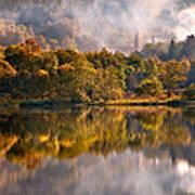 Playing Mirror. Loch Achray. Scotland Poster