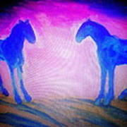 The Horses Were Playing The Blues Whole Night  Poster