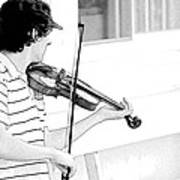 Playing Violin Poster