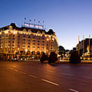Plaza De Neptuno And Palace Hotel Poster