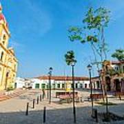 Plaza In Mompox Poster