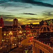 Plaza Lights At Sunset Poster