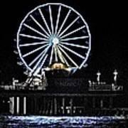 Pleasure Pier Ferris Wheel Poster