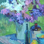 Plein Air Lilacs Poster