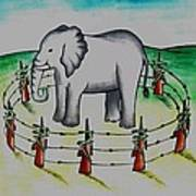Plight Of Elephants Poster by Tanmay Singh