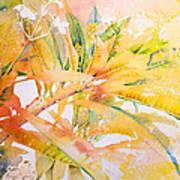 Plumeria Fireworks Poster