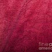 Plush Red Texture Poster