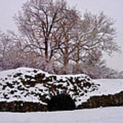 Plymouth Meeting Lime Kilns In The Snow Poster