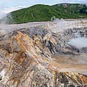Poas Volcano Crater Poster