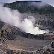 Poas Volcano National Park Costa Rica Poster