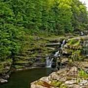Poconos Ledges Waterfall Poster