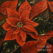 Poinsettia 2 Poster by Elena  Constantinescu