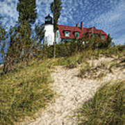 Point Betsie Lighthouse On Lake Michigan Poster