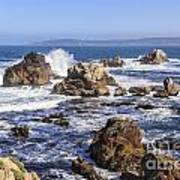Point Lobos Rocks And Waves Poster