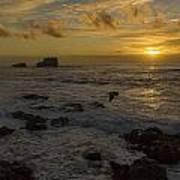 Point Piedras Blancas Sunset Poster