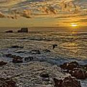 Point Piedras Blancas Sunset Variation Poster