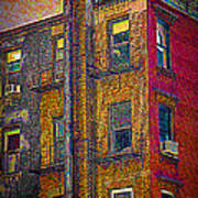 Pointillism In Steel And Brick Poster