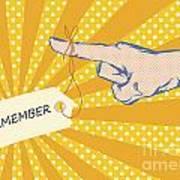 Pointing Finger Pop Art Vector Poster