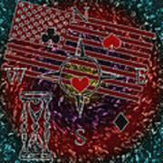 Poker Addiction Digital Painting Poster