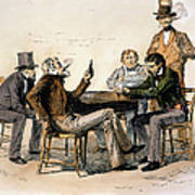 Poker Game, 1840s Poster