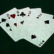 Poker Hands - High Card 4 Poster