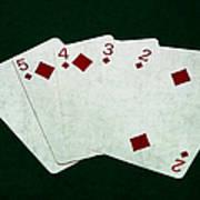 Poker Hands - Straight Flush 4 Poster
