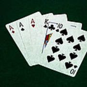 Poker Hands - Three Of A Kind 4 Poster