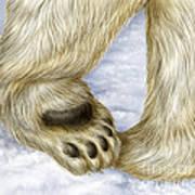 Polar Bear Paw Poster