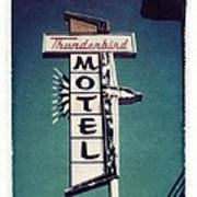 Polaroid Transfer Motel Poster by Jane Linders