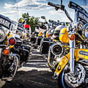 Police Motorcycle Lineup Poster
