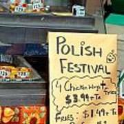 Polish Food Street Stand Poster
