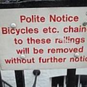 Polite Warning Poster