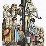 Pollution Cartoon, 1866 Poster
