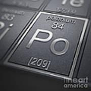 Polonium Chemical Element Poster